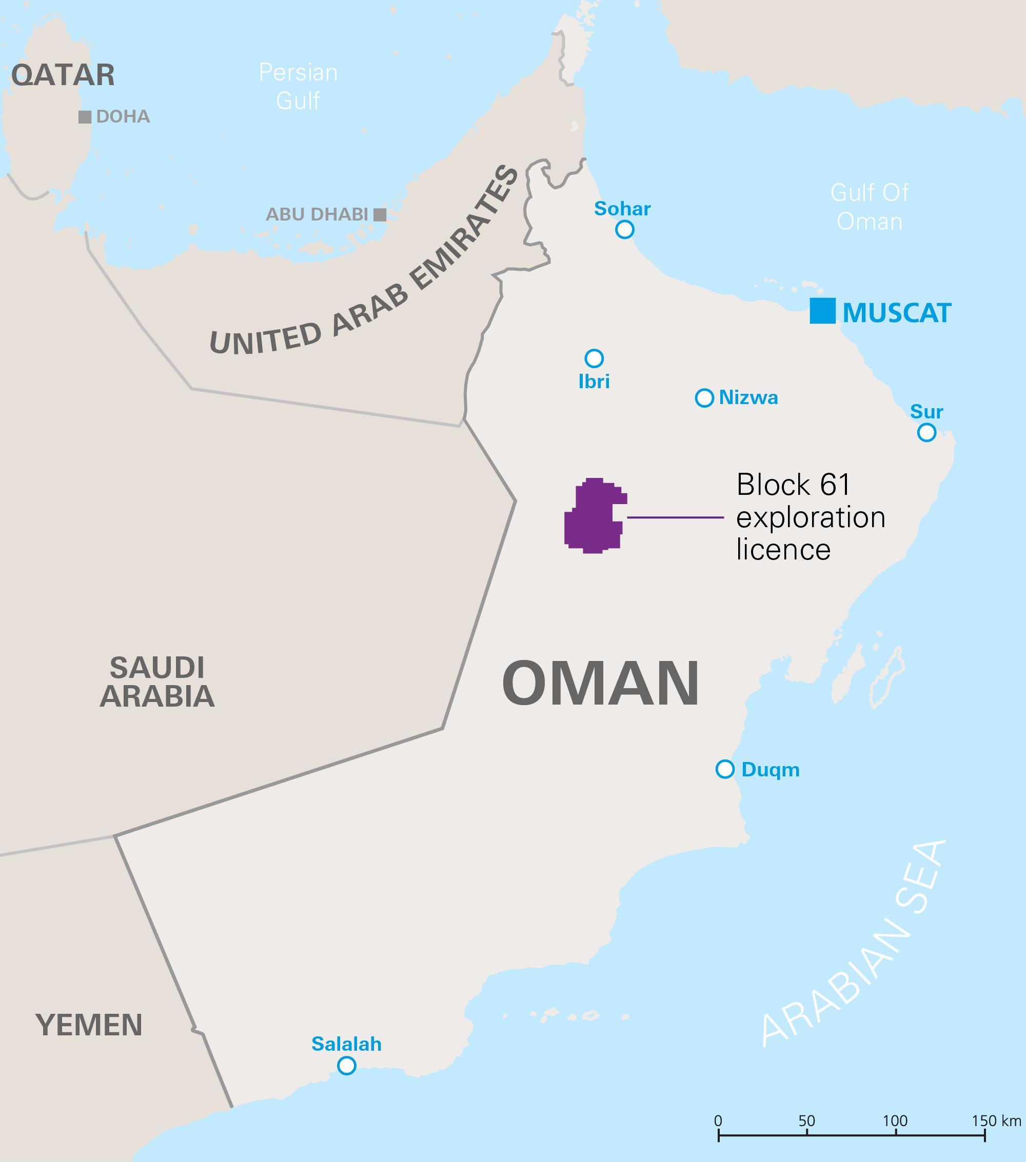 Karte Oman.Khazzan Oman Karte Karte Der Khazzan Oman West Asien Asia