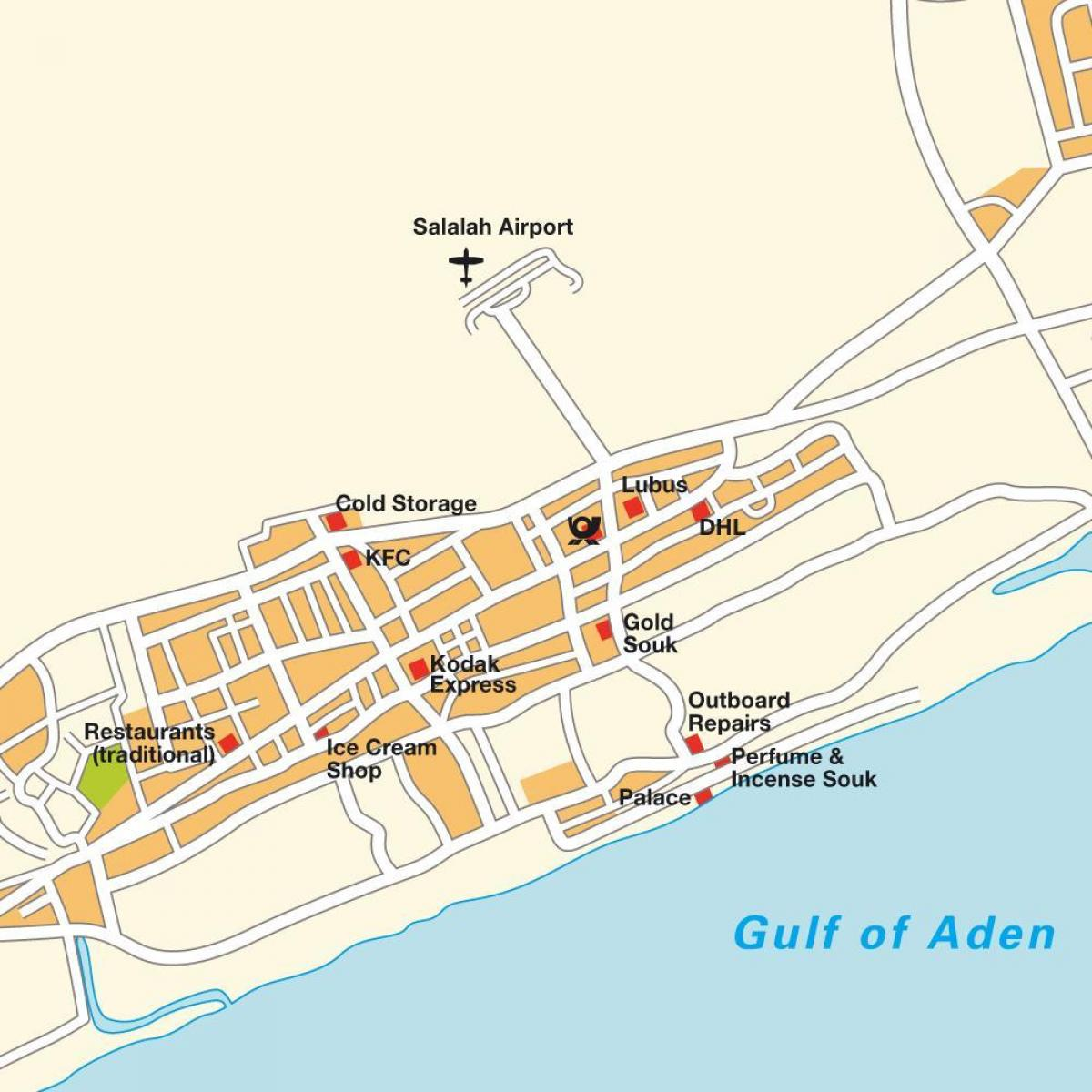 Karte Oman Salalah.Salalah Im Oman Map Karte Von Salalah Im Oman West Asien